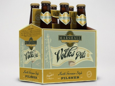 Marshall Brewing Co. – Volks Pils marshall brewing tulsa oklahoma rebrand six pack craft beer