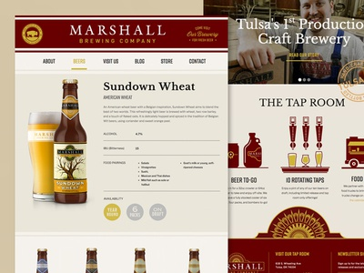 Marshall Brewing Website beer craft beer cms web development web design