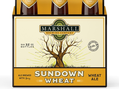 Marshall Brewing Sundown package design beer six pack tulsa craft beer