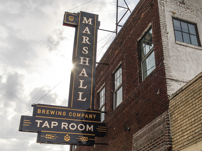 Marshall Brewing - Tap Room Sign signdesign branding tulsa craft beer