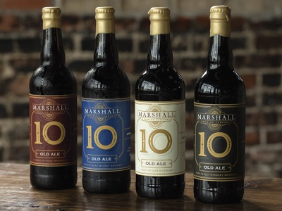 Marshall - 10th Anniversary package design branding beer tulsa craft beer