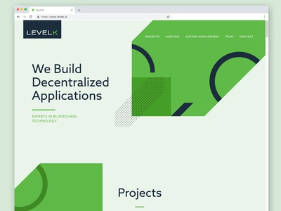 LevelK Website Design ethereum dapps levelk web  design website design blockchain