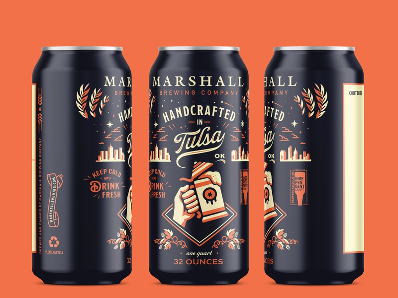 Marshall Brewing Company  - Crowler beer can design beer can beer tulsa craft beer