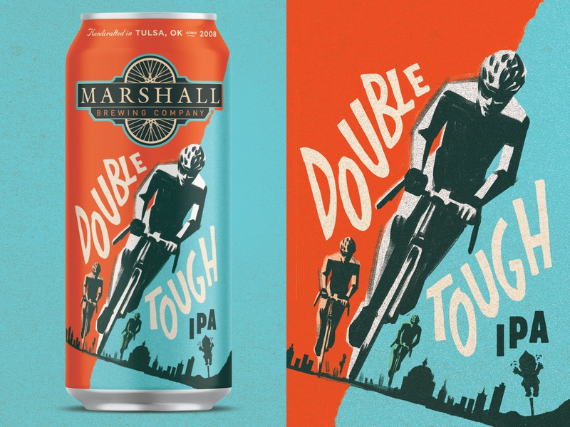 Double Tough IPA crybaby ipa tulsa tough tulsa bike beer branding craft beer