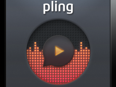 Pling Play Button pling iphone app button play eq grey surface