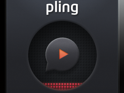 Pling Play Button app button eq gray iphone play pling surface off call to action