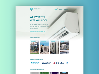 Breezy Brands air-conditioning web design