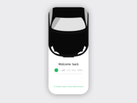 Car Sharing Sign-in Concept