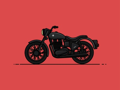 The ride begins  vehicle cruiser indian illustration royal enfield bullet flat design bike motorcycle debut