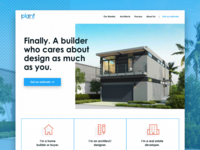 Landing page concept for prefab home builder