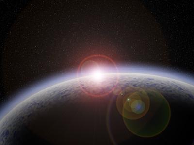 Water Planet sun earth photoshop horizon planet space