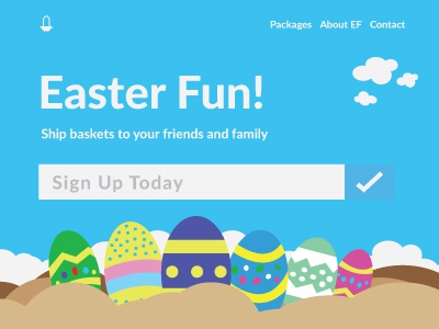 Dailyui 003 vector sign-up join eggs easter page landing