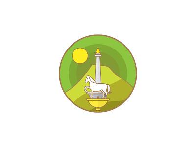 Horse on Monas Logo yellow green region sun monas monument horse indonesia vector identity visual identity designs branding indonesia designer brand identity brand design logo designer logo design logo graphic design
