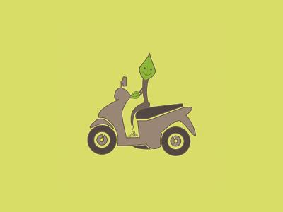 Oksibike Logo flat illustration bike ride oxygen root leaf tree motorbike bike vector design identity visual identity designs branding indonesia designer brand identity brand design logo design logo graphic design