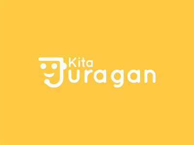 Kita Juragan - Logo logo designs company logo delivery order gift virtual assistant services tech com startup boss startup logo logo design identity designs branding visual identity indonesia designer brand identity brand design graphic design logo