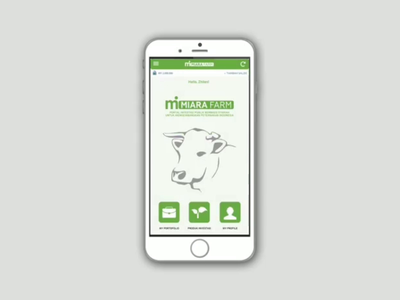 MIARA FARM App - Interaction Design green order service payment farm invest animation apps mobile ios android apple transition clean startup prototype simple interaction ui ux