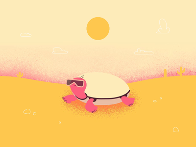 Cool Turtle Timelapse timelapse motion graphic interaction design cartoon art design motion illustration funny 2d animation sun moon course study motion design ae after effects animation character turtle