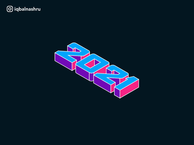 2021 Isometric Text Animation isometric icon number logo web ui ux loop animation interaction logic interaction design motion graphic motion design kinetic typography kinetic type animation numbers text new year 2021 design 2021 trend 2021