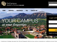 CU-Bolder OnCampus Housing and Dining Portal Homepage