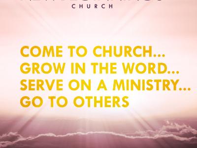 Church Website Header brush light purple gold yellow tw cen bold type header photo clouds