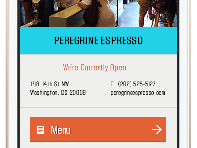 Waitscape App Location Detail app block gothic iphone ui flat search map list coffee startup
