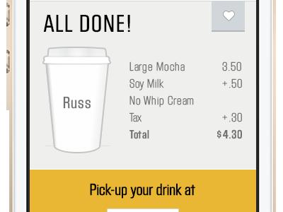 Waitscape App Concept Order Confirmation