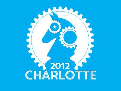 DNC Convention logo redesign donkey democrat politics cyan charlotte circus pro star horse