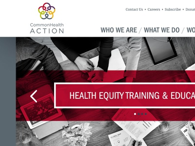 Homepage Option 2- Version 2 health grey red policy comp homepage web franklin gothic droid serif