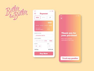 Daily UI :: 002 – Credit Card Checkout design iphone figma ui logo dailyui 002