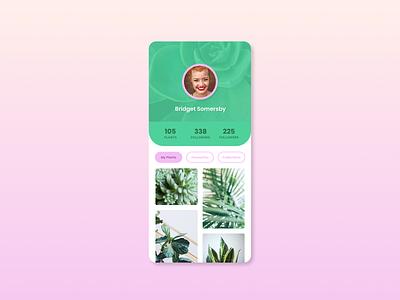 Daily UI :: 006 – Social Profile plants figma 006 iphone design app ui dailyui