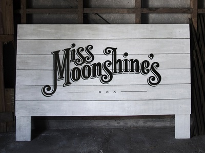 Signage - Miss Moonshine's sign painting signage lettering logo hand drawn type typography