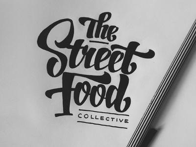 The Street Food Collective - Logo Concept 1 lettering logo script brush type typography brand branding identity food design