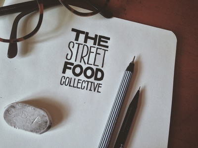 The Street Food Collective - Logo Concept 3 lettering logo sans bold hairline type typography brand branding identity food design