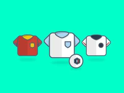 Euros 2016 design graphic design badge green flat football shirts soccer football euros 2016