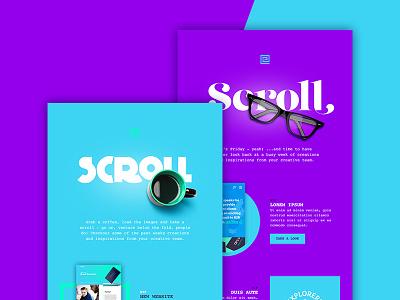 Scroll Newsletter blue purple scroll newsletter minimal digital design graphic design email design email