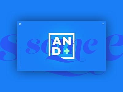 And some... typography logo graphic design blue web design branding portfolio