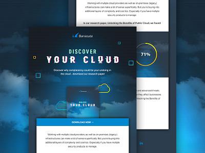 Cloud campaign graphic design dark blue download cloud email email design