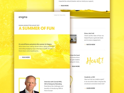 Agency email summer minimal graphic design yellow newsletter email design email
