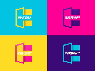Breakthrough in Education Brand typography flat recruitment e b design breaktrhrough open door mark logo branding