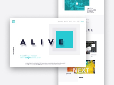 Agency Home Page typography branding square minimal graphic  design ux ui design home page web design