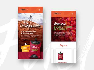Tribal Mobile african ecommerce branding graphic design sport typography ux ui web design