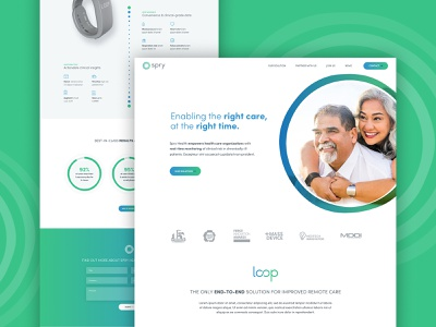 Spry Homev2 minimal green blue circles medical graphic design wordpress ux  ui web  design
