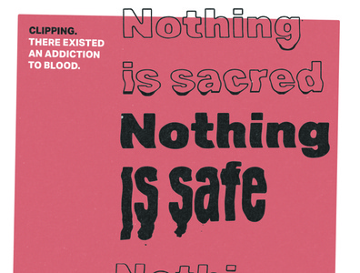 Nothing Is Safe distorted type music clipping