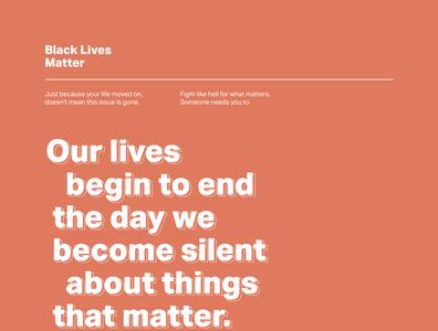 Black Lives Matter social justice design social dailyui