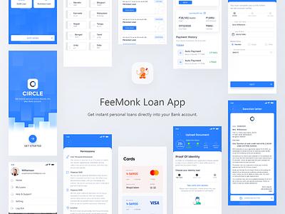 Loan App UI loans brokers mobile flat clean graphic design animation app user experience userinterface iosdesign loan app loan minimal ux branding ui illustration design