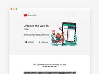 Opera VPN: web