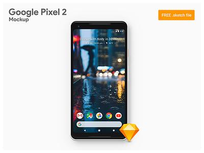 Google Pixel 2 XL - Freebie Sketch Mockup pixel 2 android ui pixel 2 xl 2017 oreo smartphone google sketch mockup freebie android