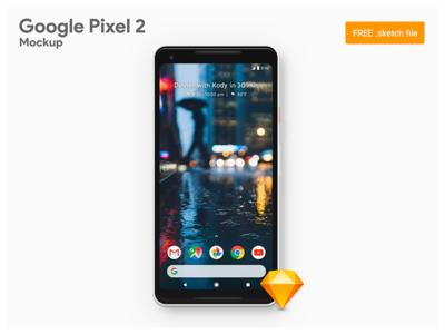 Google Pixel 2 XL - Freebie Sketch Mockup
