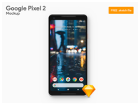Google Pixel 2 XL - Freebie Sketch Mockup