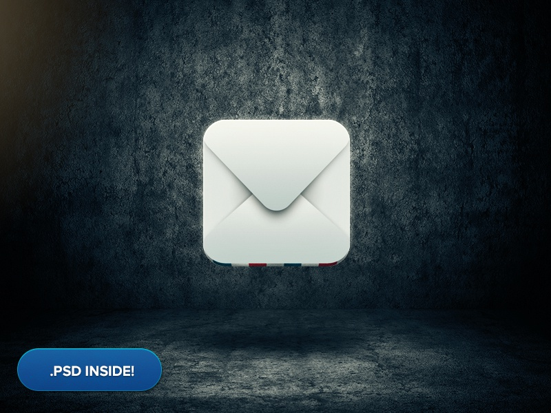 Mail Icon + psd inside mail icon iphone app download psd